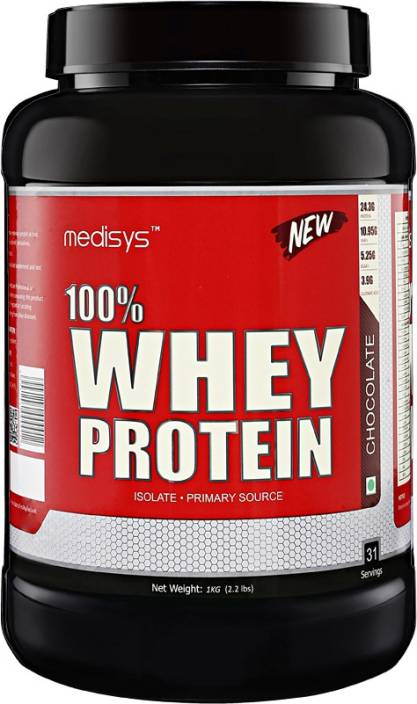 b87f91fe1 Medisys 100 %Whey Protein - Chocolate - 1kg Whey Protein Price in ...