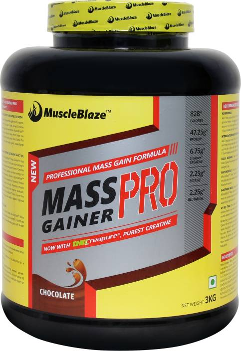 MuscleBlaze Mass Gainer PRO with Creapure Weight Gainers/Mass Gainers