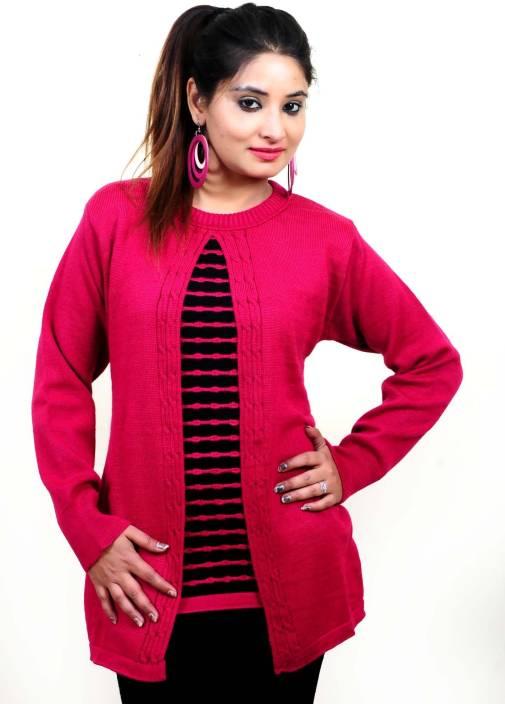 Urban Street Round Neck Woven Women's Pullover