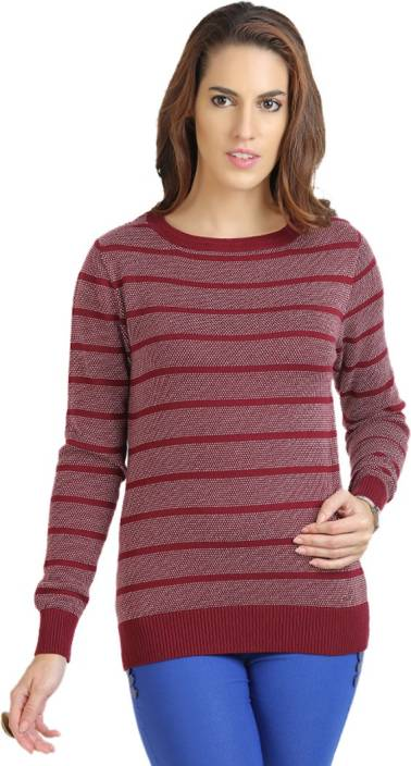 f584e1c12c82c3 Moda Elementi Round Neck Striped Women Pullover - Buy Cardovan Moda Elementi  Round Neck Striped Women Pullover Online at Best Prices in India |  Flipkart.com