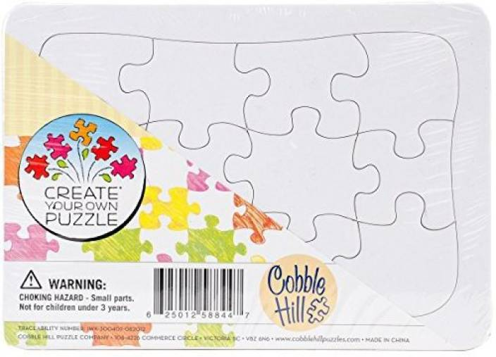 cobble hill create your own puzzle postcard size jigsaw puzzle tray