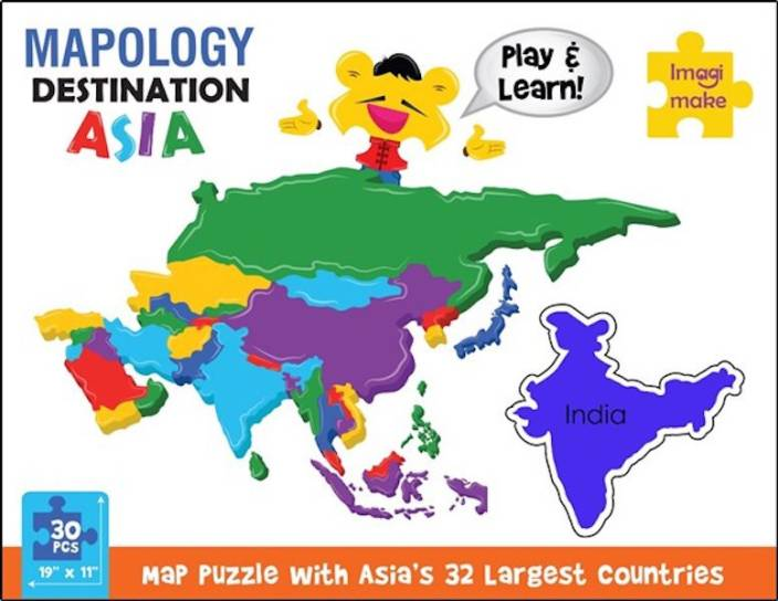 Imagimake Mapology Destination Asia - Foam Map Puzzle ...
