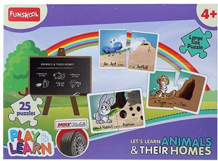 Funskool Funskool Play And Learn Puzzle - Lets Learn Animals