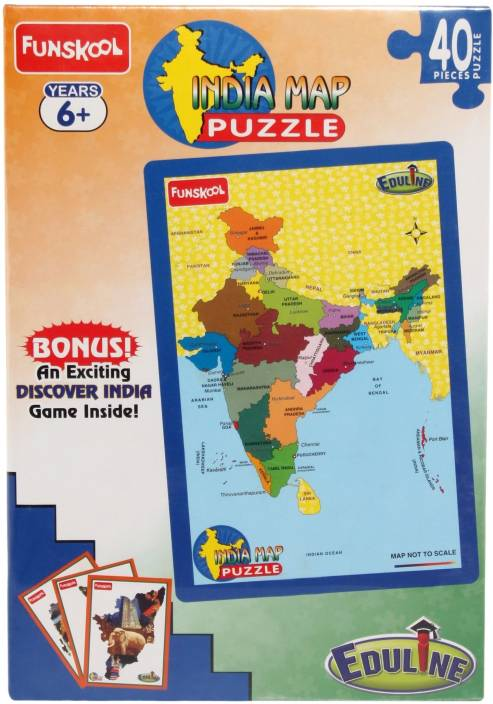 India Map Puzzle.Funskool India Map Puzzle 60632 India Map Puzzle 60632 Shop