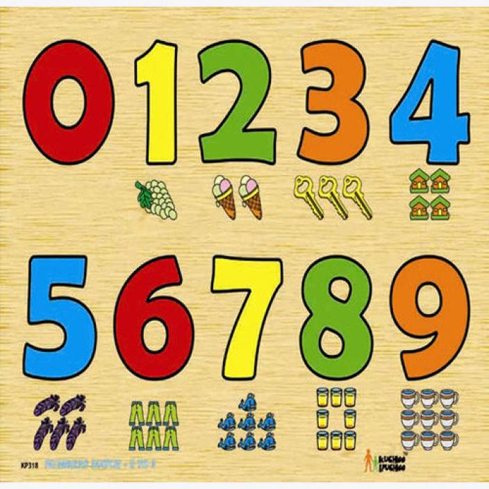 Fun Zoo Number Match Object Puzzle 0 To 9