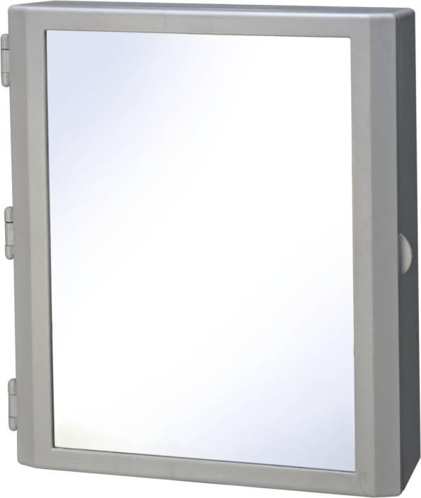cipla plast flora bathroom mirror cabinet plastic wall shelf - Bathroom Mirror Cabinet Price India