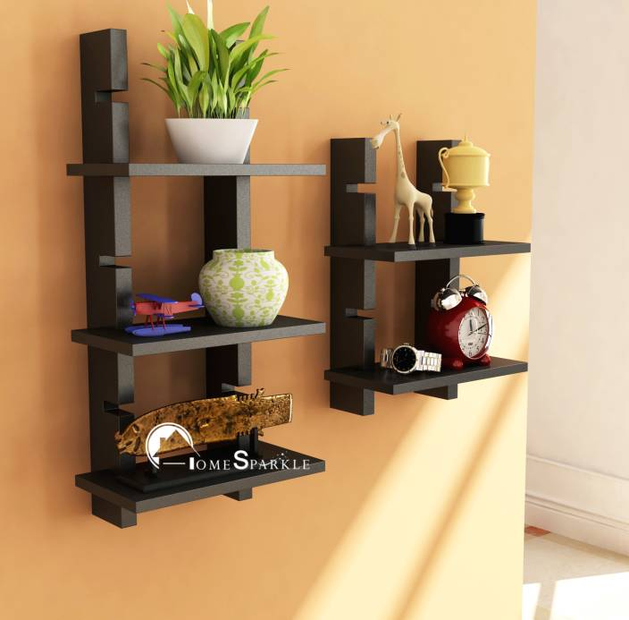 Home Sparkle Adjustable Ladder Style Wooden Wall Shelf Price In India Buy Home Sparkle