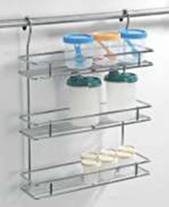Lifetime Hanging Spice Rack(Without Rod) Stainless Steel Wall Shelf