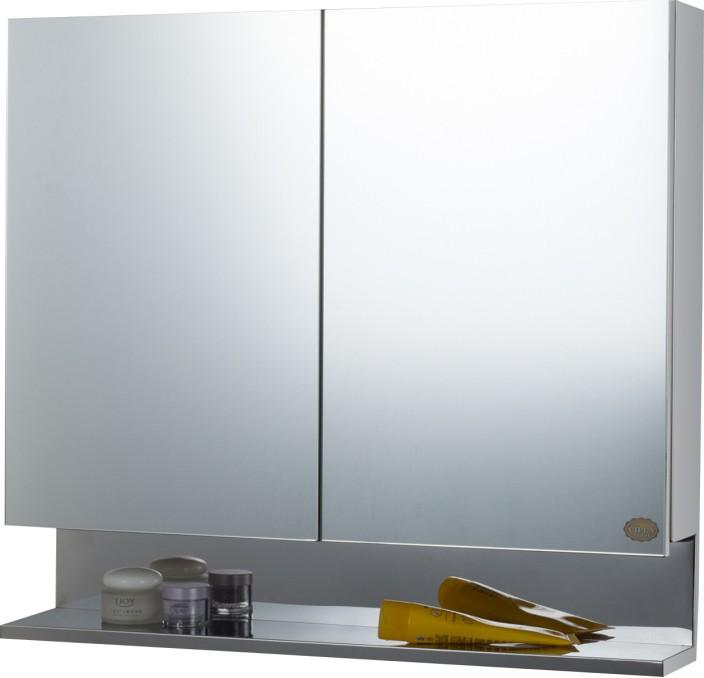 cipla plast double door stainless steel bathroom cabinet stainless steel wall shelf