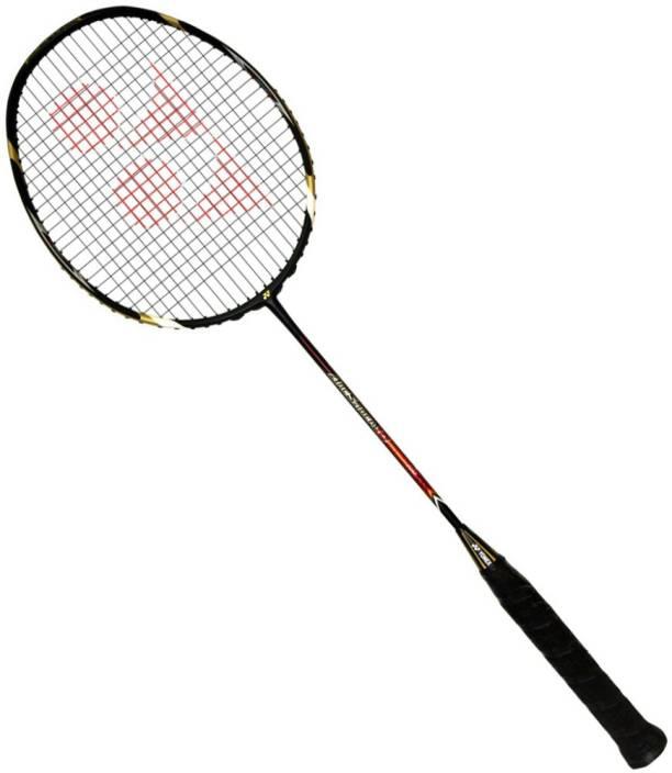 Yonex NANORAY GlanZ Strung w Nanogy Green, Black Strung Badminton Racquet