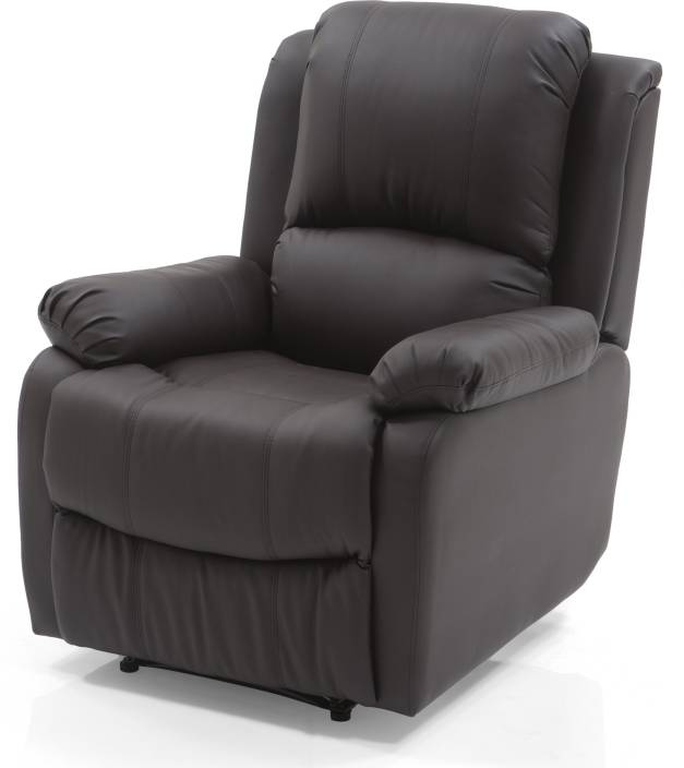 389b768a86 Urban Ladder Tribbiani Leatherette Manual Recliners (Finish Color -  Chocolate Brown)