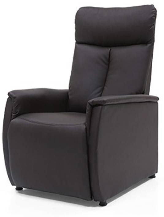 5035831946 Urban Ladder Bertie Compact Leatherette Manual Recliners (Finish Color -  Chocolate Brown)