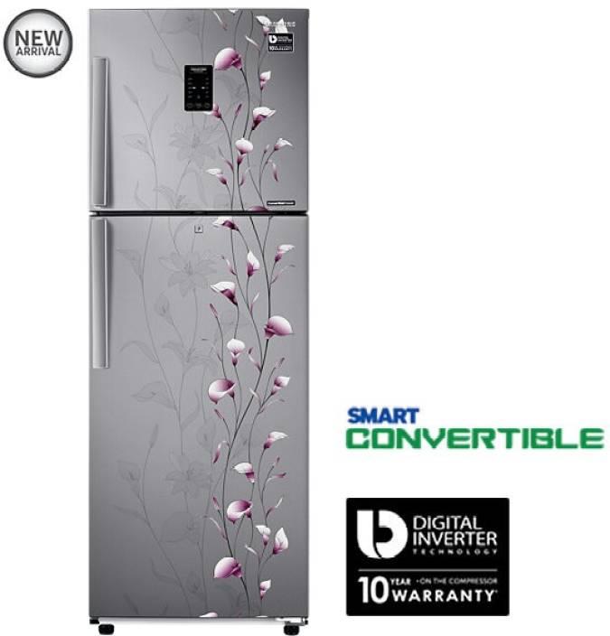 dd6aa240396 Samsung 253 L Frost Free Double Door 3 Star Refrigerator (Tender Lily  Silver, RT28K3953SZ)