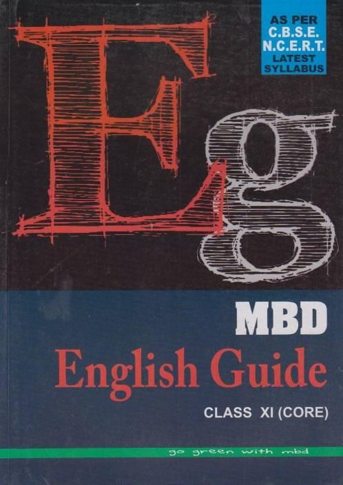 MBD English Guide Class-XI (Core): Buy MBD English Guide Class-XI