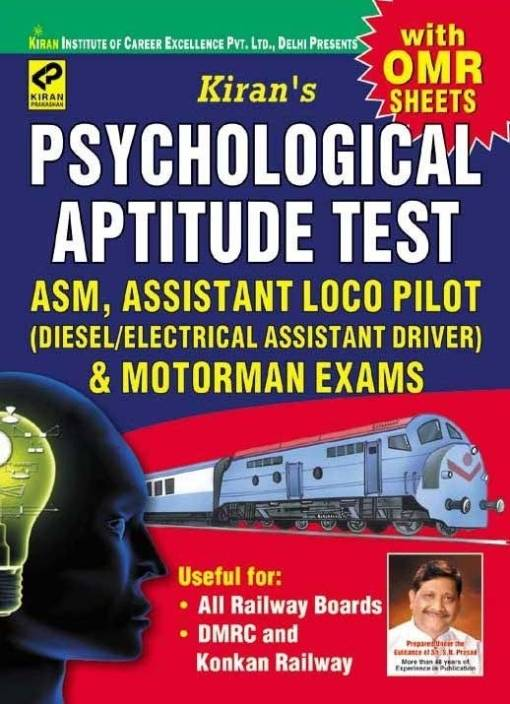 Psychological Aptitude Test for ASM, Assistant Loco Pilot and Motorman Exams: Diesel/Electrical Assistant Driver