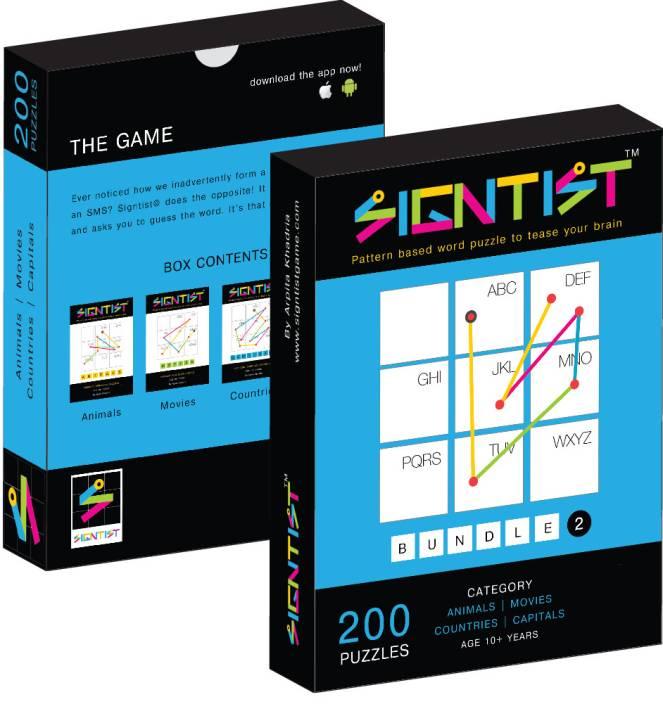Signtist - Bundle 2 : 200 Puzzles Animals / Movies / Countries / Capitals