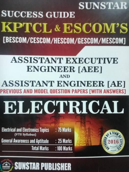 SUCCESS GUIDE-KPTCL&ESCOM'S-Asst ,EXECUTIVE ENGINEER[AEE] &  Asst ,ENGINEER[AE]-ELECTRICAL