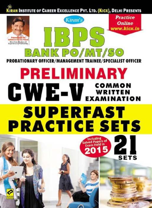 Ibps Bank Po/Mt/So Cwe - V Preliminary Cwe-5, Superfast Practice Sets —English