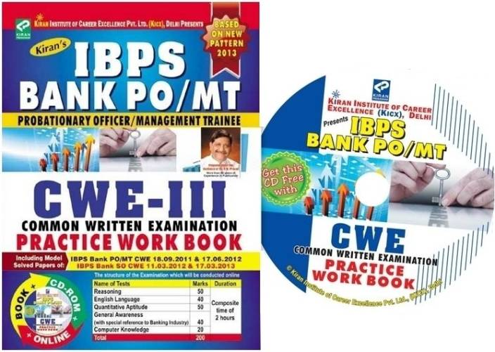 IBPS Bank PO/MT Probationary Officer / Management Trainee CWE III Practice Work Book (50 Sets)(With CD )