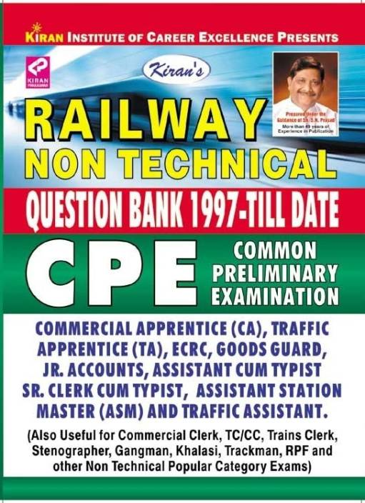Railway Non Technical CPE Question Bank 1997 Till Date