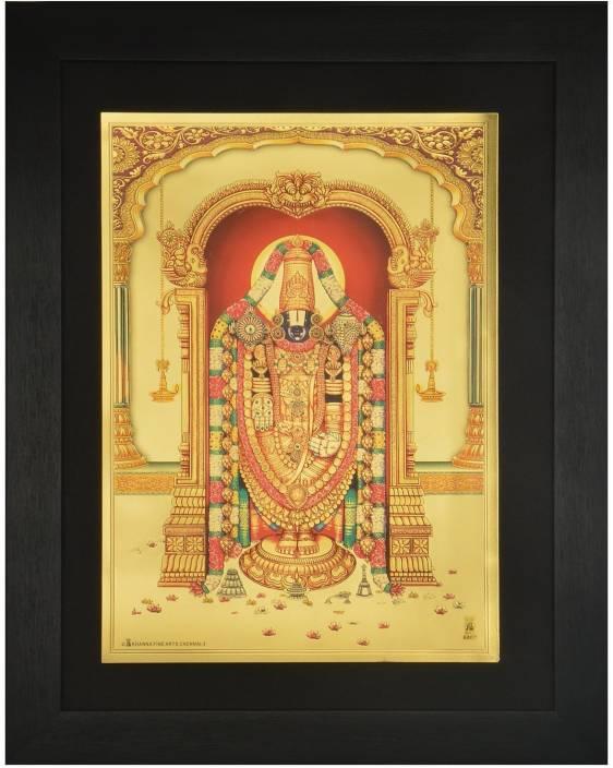 Generic Lord Balaji (42 cm x 33 cm x 1.5 cm, Black) / Wall Hangings ...