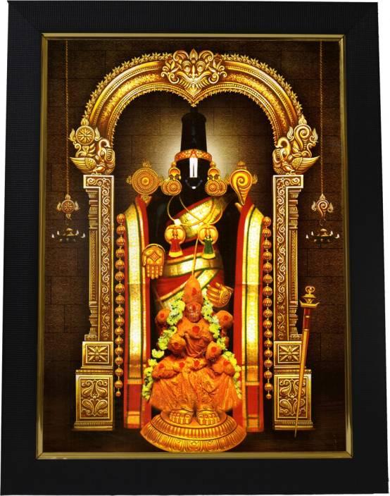 101Temples Tirupati Balaji God Photo Religious Frame