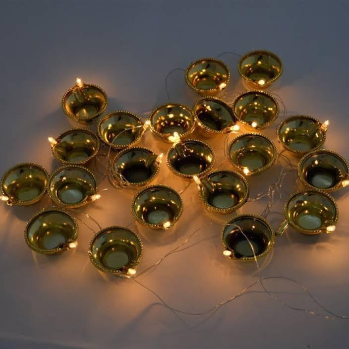Grandshop 102 inch Gold Rice Lights