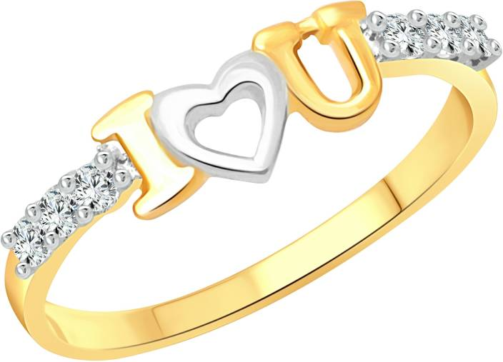 18d480dac Vighnaharta I Love U Alloy Cubic Zirconia Gold-plated Plated Ring Price in  India - Buy Vighnaharta I Love U Alloy Cubic Zirconia Gold-plated Plated  Ring ...