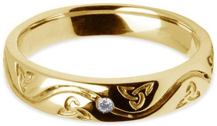 Kirati Solitaire Sterling Silver Cubic Zirconia 14K Yellow Gold Plated Ring