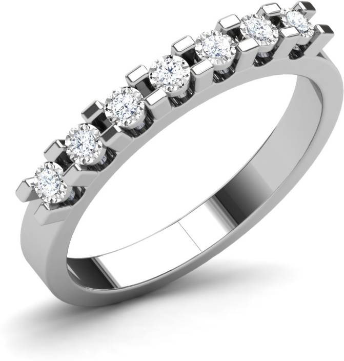 Caratlane Queen S Crown Silver Diamond Ring