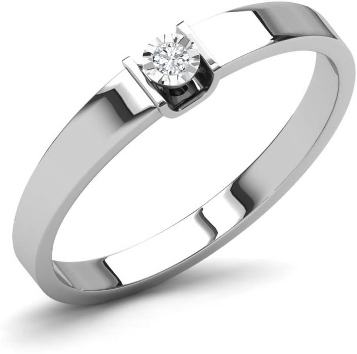 Caratlane Kaitlyn Silver Diamond Ring