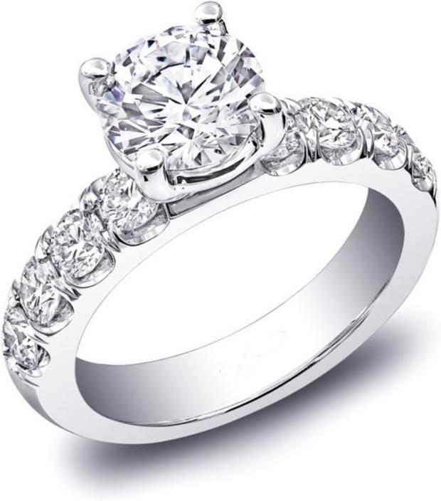 Zenia Silver Swarovski Crystal, Swarovski Zirconia Platinum Plated Ring