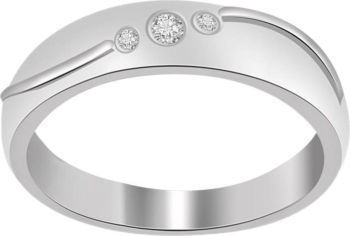 Ciemme Fashion 3-Stone Sterling Silver Cubic Zirconia Ring