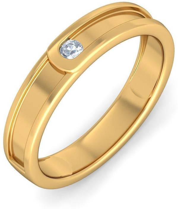 BlueStone The Clasped band for Him 18kt Diamond Yellow Gold ring
