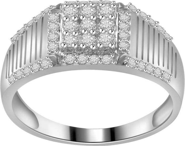 Ciemme 1.28 CT Men's Anniversary-Wedding Sterling Silver Cubic Zirconia Ring