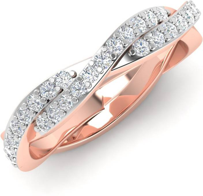 Caratify Elmera 14kt Diamond Rose Gold ring Price in India Buy