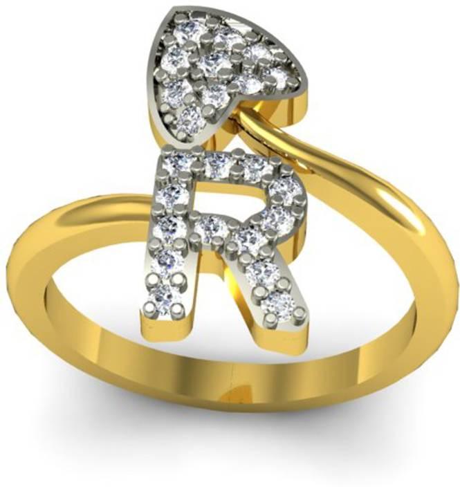 jewelscart in alphabet r love heart shape valentine cz gold plated