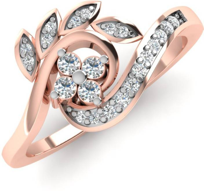 Caratify Nylisa 14kt Diamond Rose Gold ring Price in India Buy