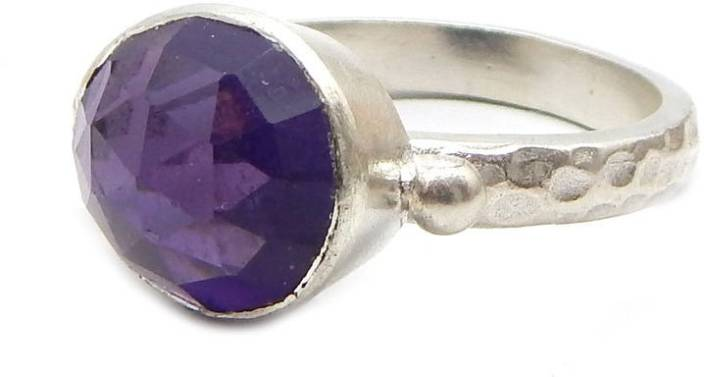 The V Collection CDR-2233 Silver Amethyst Silver Plated Ring