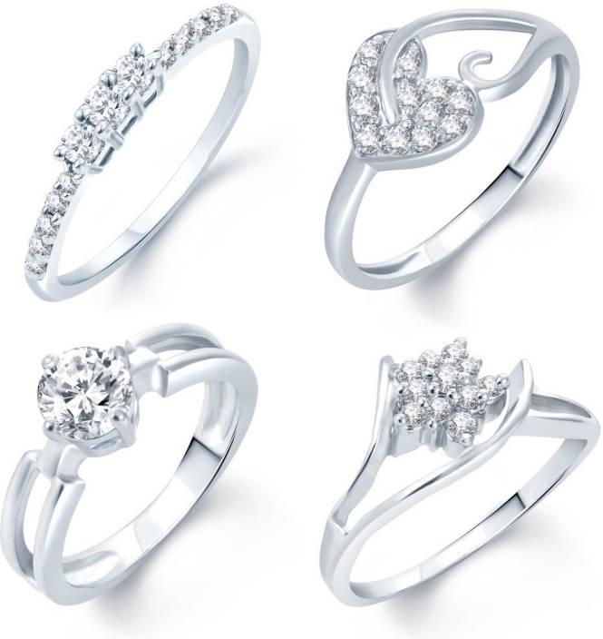 8b03b5f36 Sukkhi Alloy Cubic Zirconia Rhodium Plated Ring Price in India - Buy Sukkhi  Alloy Cubic Zirconia Rhodium Plated Ring Online at Best Prices in India ...