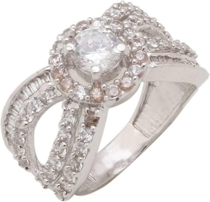 Silver Kartz Sterling Silver Cubic Zirconia Ring