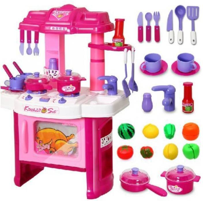 Kids Kitchen Sets Magnificent Play King Big Kitchen Cook Set Toy Kids Play Pretend Kitchen Set Decorating Inspiration