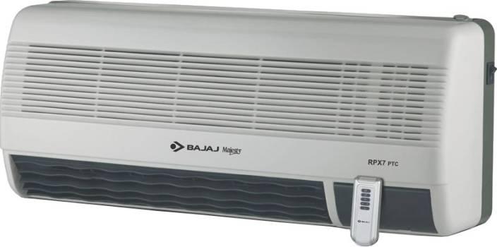 Bajaj Majesty Rpx 7 Ptc Wall Mount Fan Room Heater Price