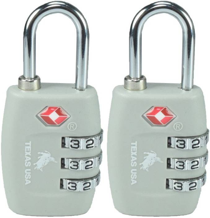 Lock Lock Usa usa tsa lock mandatory for us customs grey set of 2 safety