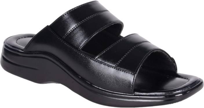 1AAROW Men black Sandals