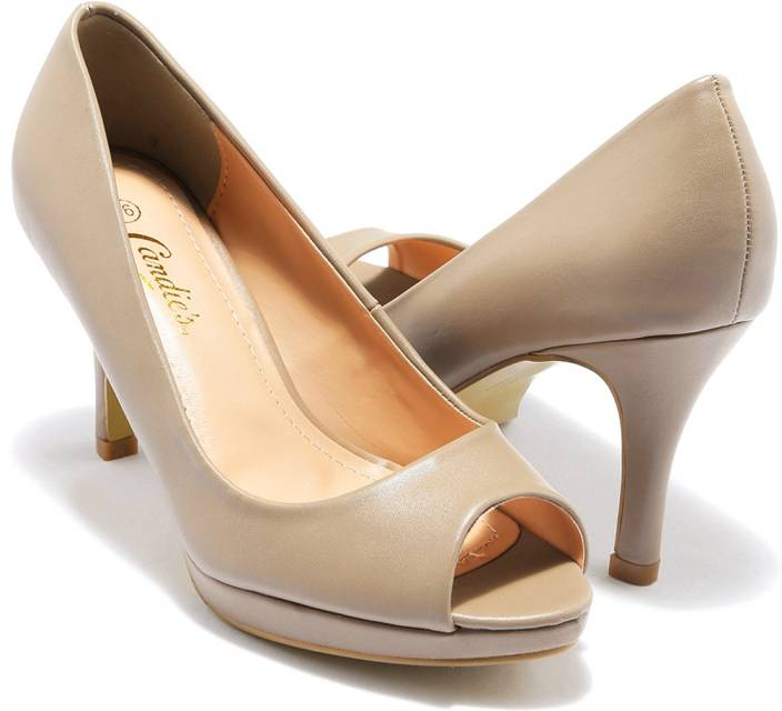 Candies Women BEIGE Heels - Candies Women BEIGE Heels - Buy BEIGE Color Candies Women BEIGE