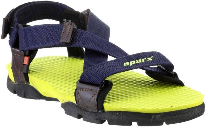 Sparx Men N. Blue Fl. Green Sandals