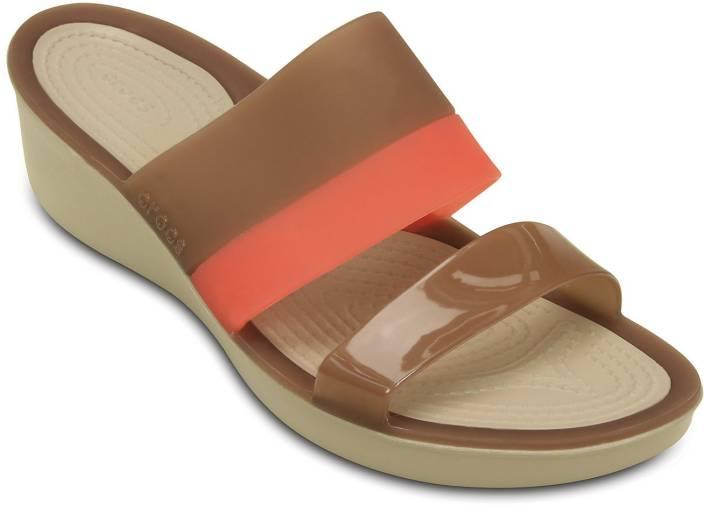 9b99759227f Crocs Women Brown Wedges - Buy 200031-854 Color Crocs Women Brown Wedges  Online at Best Price - Shop Online for Footwears in India