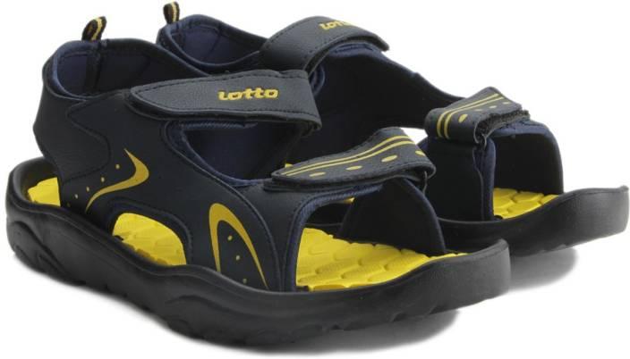 Lotto Men Blue/Yellow Sports Sandals