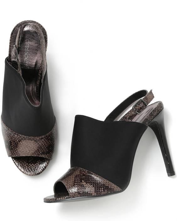 bb5a14b97cac Dressberry Women Black  Brown Heels - Buy Black